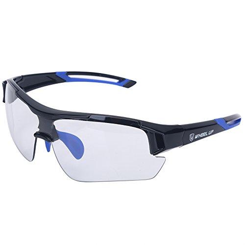Tbest Gafas de sol fotocromáticas unisex, Protección UV a prueba de viento...