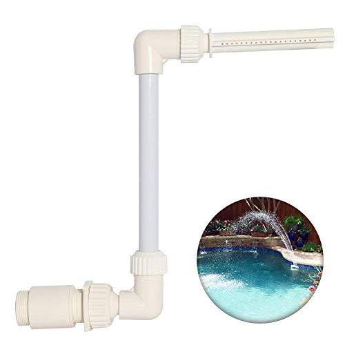 Seasaleshop Wasserfontäne Poolsprühgerät, Oberflächenabschäumer Einstellbar Dauerhaft Schwimmender Wasserfall Brunnenwasser Pools Dekoration