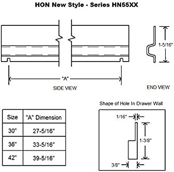 6-Pack HON Lateral File Bar 42