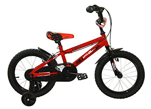 "Umit Bicicleta 16"" APOLÓN Rojo, Niños, Infantil"