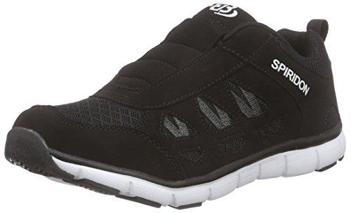 Brütting Spiridon Fit Slip in Unisex Erwachsene Sneaker, Schwarz/ Weiß, 44 EU