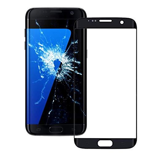 un known Reemplazar Nueva Piezas Lente de Cristal Exterior de la Pantalla Frontal para Galaxy S7 Edge / G935 Accesorio (Color : Black)