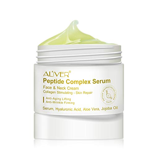 Peptide Complex Cream Anti-aging Cream Peptide Anti-Wrinkle Cream Firming Moisturizing Cream Collagen peptide essence for skin and neck, advanced firming facial moisturizer, anti-aging night cream to smooth wrinkles