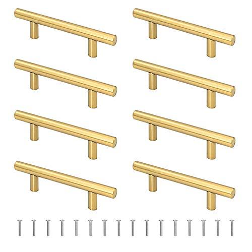 Gukasxi 8 szt. / 4 pary złoty tacka uchwyty taca z żywicy formy uchwyty metalowy uchwyt do silikonowej żywicy taca do odlewania formy szuflady szafki kuchennej akcesoria do drzwi ze śrubami, długość 14 cm, szerokość 3 cm