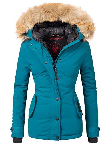 Navahoo Damen Winter Jacke Winterparka Laura Petrol Gr. XS