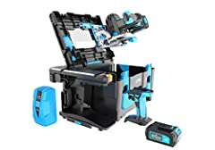 The POWER8 workshop case is a rugged multi-function tool box with an armored work surface. POWER8 handheld power tools convert to bench top functions in seconds. The all-new innovative POWER8 worklight transitions to a lantern. The fast charging POWE...