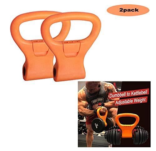 YANGAC 2 StüCk Kettlebell Grip Dumbell Adjustable Weight Grips Gewichtsgriff Tragbarer Home Travel TäGliches Training FitnessgeräTe, AusrüStung FüR Sporttaschen, Gewichtheben, Bodybuilding, Abnehmen