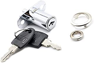Drawer Lock Accessories Drawer Cabinet Cam Lock Zinc Alloy Push Plunger Sliding Cabinet Door Lock 3/4 in Cylinder Diameter...