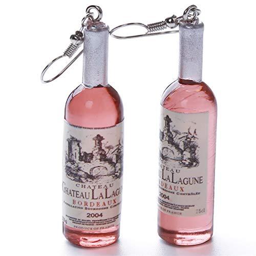 Toporchid Flaschen Ohrringe Weinflasche Anhänger Ohrringe Für Frauen und Mädchen (Kaffee)