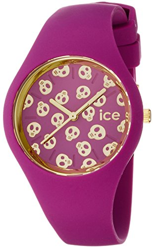 Ice-Watch Damen - Armbanduhr Ice Skull Analog Quarz Silikon ICE.SK.DAM.S.S.15