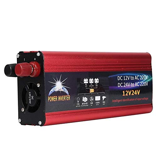 BZMOU Inverter a Onda sinusoidale Pura 6000W Car Power Inverter Onda sinusoidale DC12V a AC220V con Porta USB Converter Inverter a Onda sinusoidale Pura