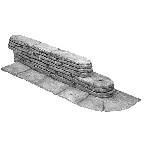 Emsco group 2032hd bedrocks trim-free gray, 20 feet – natural stacked slate design garden lawn edging