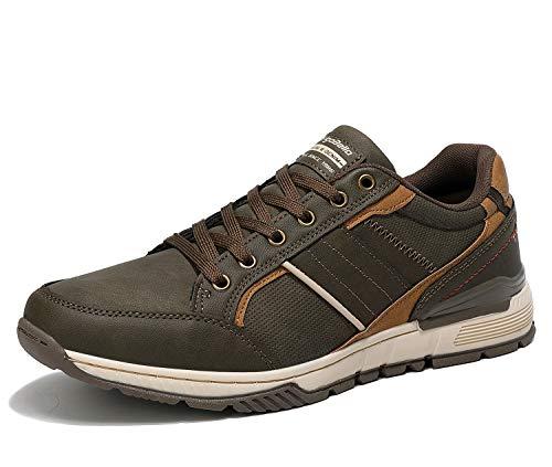 AX BOXING Zapatillas Hombres Deporte Running Sneakers Zapatos para Correr Gimnasio Deportivas Padel Transpirables Casual 40-46 (46 EU, Verde)