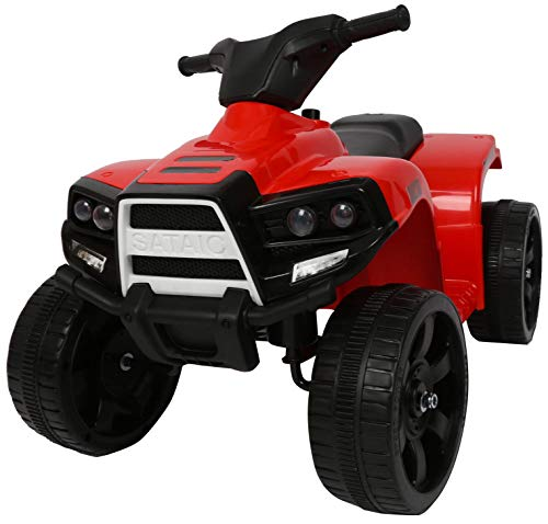 kid go Mini Quad Elettrico per Bambini 6V Rosso