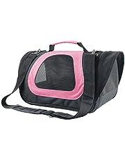 Nobleza -Transportin Gato Perro, Bolsa de Transporte Transpirable para Mascotas, 45 * 28 * 29cm transportador de Mascotas para Perros/Gatos/Avión Mediano (Rosa)