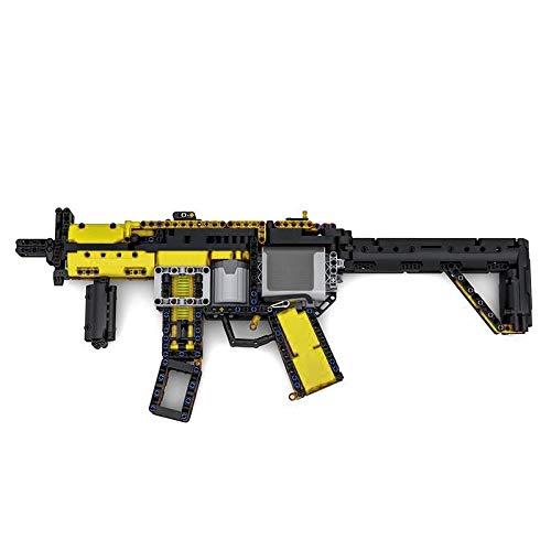 Zenghh Proiettili fucile da cecchino Building Blocks meccanica elettrica Mitraglietta Moc kit Caminetto Boy Army for adulti Puzzle Game militare Arma Modello 3D educativi Edilizia gioca compatibile ma