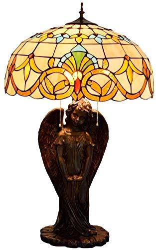 MARUA Tischlampe Wohnzimmer Tiffany Tischlampe Gelb Barock Glas Schreibtischlampe Engel Lampe Halter Für Hotels Bars Restaurants Studie Wohnzimmer Schlafzimmer