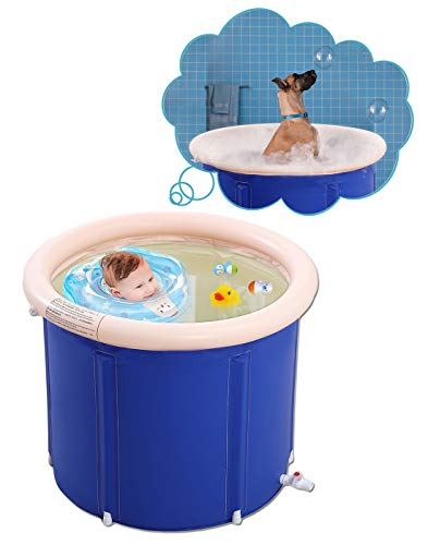Best Prices! Inflatable Bathtub Portable Bathtub Hot Tub Inflatable in Small Spaces Spa for Shower S...