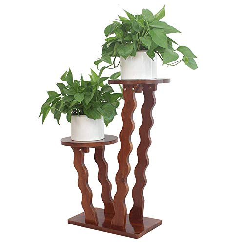 ZGYQGOO Blumenstaumlnder aus Holz, Indoor Outdoor Vertikal Mehrfach Pflanzgefaumlszlig Halter...