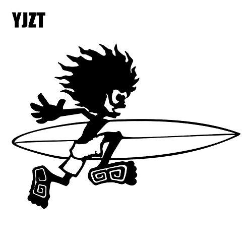 JYIP Pegatinas de diseño de Coche de Vinilo 18CM x 13CM BMX Patinete de Snowboard Furgoneta C31-0282 Negro/Plateado-Black