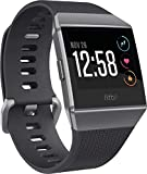 Fit.Bit.Ionic GPS Smartwatch, Charcoal/Smoke Gray GPS Smart Watch, One Size (S & L Bands Included)