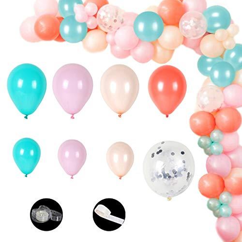 Heritan 115 piezas Macaron globo arco guirnalda kit baby shower fiesta cumpleaños boda decoración