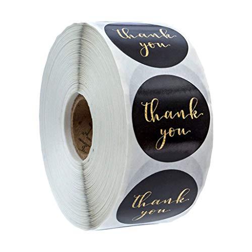 kowaku 500 Piezas Etiqueta Adhesiva de Gracias Pegatina de Agradecimiento Hecho a Mano Favores de Boda Adorno para Galleta Pastel -...