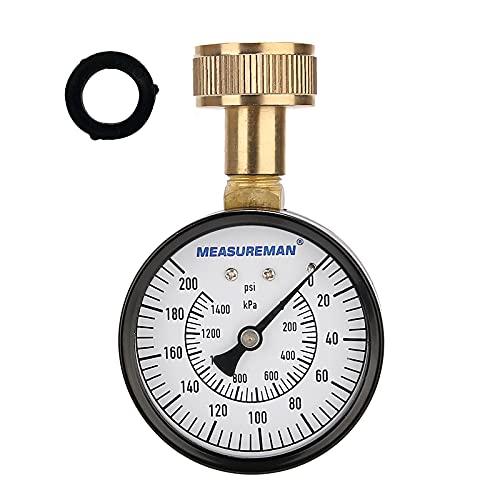 Measureman 2-1/2' Water Pressure Test Gauge, 3/4' Female...
