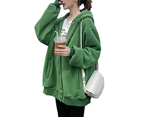 cxzas852 Abrigo Corto Mujer Impresión de Letras de Primavera Sudadera Informal Suelta con Capucha Tendencia Casual Suéter