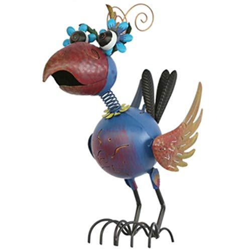 ZLASS Crane Garden Statue, Metal Flamingo Statues And Sculptures, Bird Decoration Art With Non-Slip Feet, Used For Patio Garden Lawn Home Decoration, 18.5in High