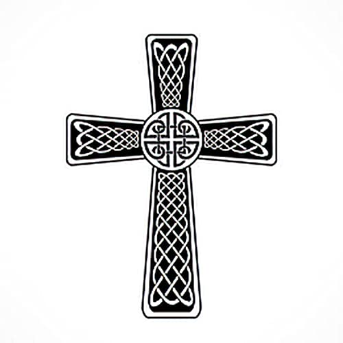 Tattoo Design Six Sheets Temporary Tattoos for Women Adults Celtic Cross Isolated on the White Background for Design Illustrati Temporary tattoo for Men for Woman Neck Arm 3.7 X 3.7 Inch