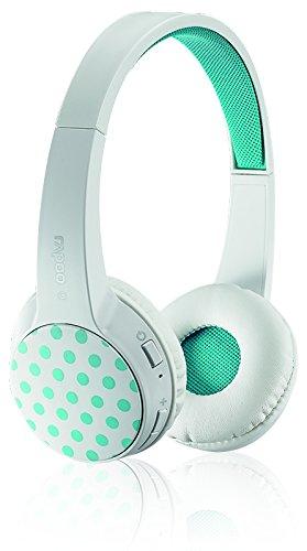 Rapoo S100 Bluetooth 4.1 Multi-Style Headset/ Kopfhörer (integriertes Mikrofon, austauschbare Cover) weiß