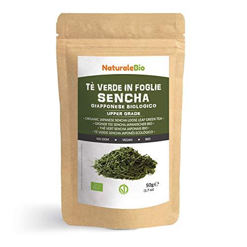 Té verde Sencha Japonés Orgánico [ Upper grade ] de 50g. 100% Bio, Natural y Puro, Té verde en hojas de la primera cosecha, cultivado en Japón. Organic Japanese Sencha Green Tea. NaturaleBio