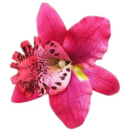 Plus Nao(プラスナオ) ヘアクリップ ヘアアクセサリー ヘッドドレス コサージュ フラワーモチーフ お花 レディース 髪飾り 髪留め ヘアアレ - ローズ