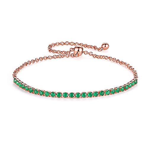 HJPAM 4mm Cubic Zirconia Tennisarmband Rose Goud Zilver Armband CZ Bedelarmband Mode-sieraden Vriendschapscadeau