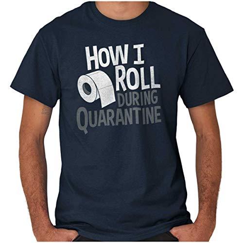 Brisco Brands Toilet Paper Shortage Funny Shirt Quarantine T Shirt Tee Navy