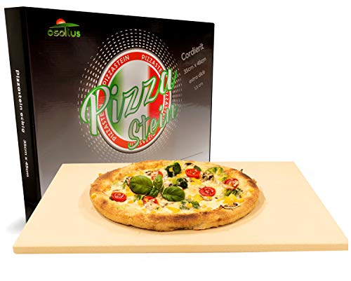 osoltus Pierre à pizza professionnelle en cordiérite - 35 cm x 45 cm x 1,5 cm