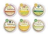 NANA - Pack de 12 tarritos ecológicos frescos 2 de cada variedad de 190 g de frutas (Aguacate, Caribe, y Tropical) y verduras (Sweet Pot, Brócoli y Calabaza)