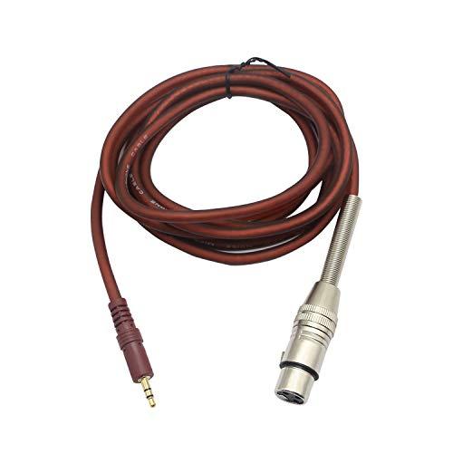 XLR auf 3,5 mm Mikrofonkabel, 1/8 Zoll TRS Stereo auf XLR Buchse Kabel 3,5 mm (Mini) auf XLR-F Mikrofonkabel für unsymmetrisches Interconnect Kabel- 2,5 m