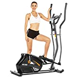 ANCHEER Elliptical Trainers, Magnetic Eliptical Exercise Machines with 3D Virtual APP Control & 10 Level Magnetic Resistance, Max User Weight 390lbs (Gray)