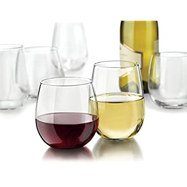 Libbey Vina Stemless Wine Glasses, Set of 16