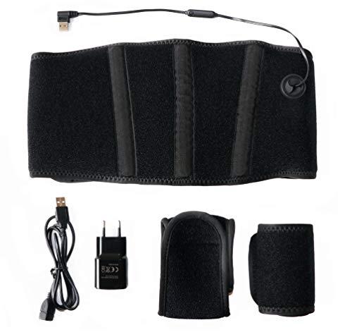 Thermrup Ferninfrarot (FIR) Wärmegürtel - USB-Betrieb(Powerbank und Netzteil) beheizbarer Gürtel(medizinische Qualität) mit 3-stufiger Temperaturregelung