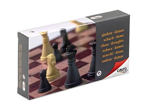 Cayro - Ajedrez/Damas magnético pequeño — Juego de observación y lógica - Juego Mesa - Desarrollo de Habilidades cognitivas e inteligencias múltiples - Juego Tradicional (450)
