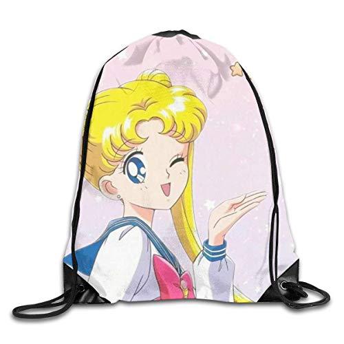 zicheng Cute Drawstring Bag Print Shoulder Bags Sackpack Sport Gym Backpack Storage Bag