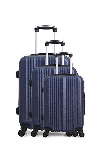 Hero Lipari Luggage Set, 76 cm, 194 liters, Blue (Bleu Marine)