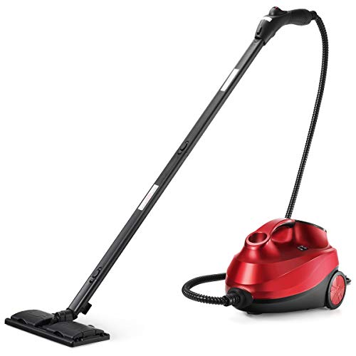 ARLIME Multipurpose Steam Cleaner with 19 Accessories, Heavy Duty Household Steamer with 1.5L Tank, Chemical-Free Cleaning for Floors, Carpet,Cars, Windows, 2000W (Red)