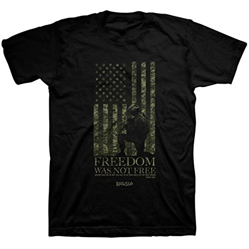 Kerusso Men's Freedom was Not Free T-Shirt - Black -SM