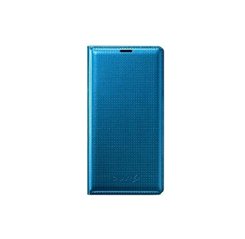 Samsung EF-WG900BEEGWW Flip Cover mit Visitenkartenfach in elektrisch blau Galaxy S5