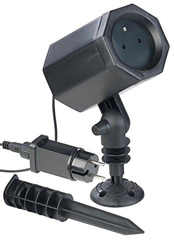 Lunartec Sternenhimmel Projektor: Laser-Projektor mit 3 Sternen-Effekten, innen & außen, 2,5 Watt, IP44 (Sternenhimmel Projektor Laser)