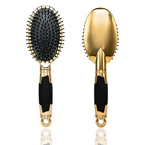LePinko Golden Paddle Hair Brush Original Detangler  Detangling Knots SnagFree AntiStaticOval Plastic Tips